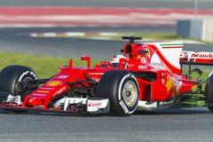Chaufför Sebastian Vettel Team Ferrari Royaltyfri Foto