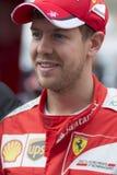 Chaufför Sebastian Vettel Team Ferrari F1 Arkivbilder