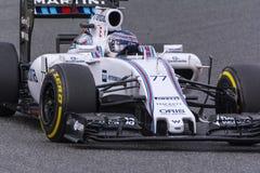 Chaufför Valtteri Bottas Team Williams Arkivfoton