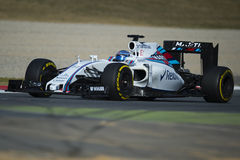 Chaufför Valtteri Bottas Team Williams Martini Royaltyfria Foton
