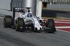 Chaufför Valtteri Bottas Team Williams Martini Fotografering för Bildbyråer