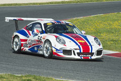 Chaufför Yannick Mallegol Porsche 991 kopp Arkivfoto