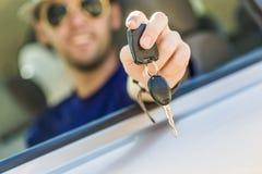 Chauffören licenserar Arkivbild