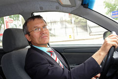 chauffören taxar Fotografering för Bildbyråer
