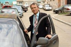 chauffören taxar Royaltyfria Foton