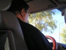 chauffören taxar Royaltyfri Foto