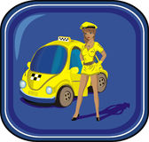 chauffören taxar Royaltyfri Bild