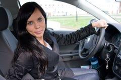 chaufförkvinnligbarn Royaltyfri Fotografi
