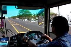 Chaufförlock av lastbilen Arkivbild
