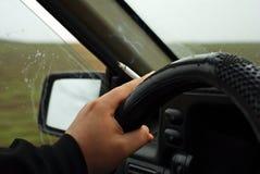 chaufförrökning Arkivfoto