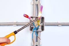Chauffage de tube thermo-rétrécissable photos libres de droits