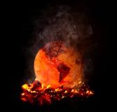 Chauffage global flambé images libres de droits