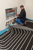 Chauffage par le sol et refroidissement photos stock