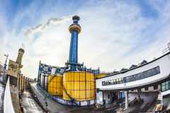 Chauffage urbain Vienne des formes de Hundertwasser Images libres de droits