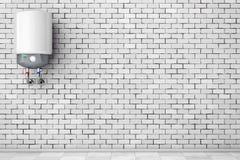 Chauffe-eau automatique moderne rendu 3d illustration de vecteur