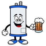 Chauffe-eau avec de la bière illustration stock