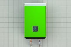 Chauffe-eau ou chaudière vert automatique illustration stock