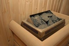 Chaufferette de sauna Image libre de droits