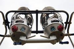 Chaufferettes chaudes d'un ballon à air. images stock