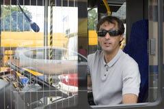 Chauffeur de bus photographie stock
