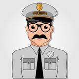 Chauffeur de bus Cartoon Face illustration stock