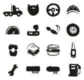 Chauffeur de camion Icons Freehand Fill Images libres de droits