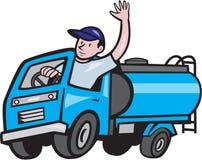 Chauffeur de camion Waving Cartoon de bateau-citerne de bébé Images stock