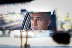 Chauffeur de taxi, Istanbul, Turquie Images stock