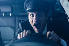 Chauffeur gets into car crash Royalty Free Stock Image