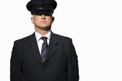 Chauffeur, portrait, cut out Royalty Free Stock Photo