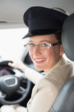 Chauffeur smiling at camera Stock Photo