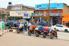 Chauffeurs de taxi ougandais Images libres de droits