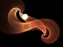 Chauffez la spirale colorée de fractale, illustration numérique Photo stock