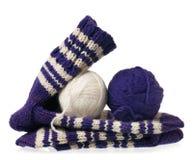 Chauffez les chaussettes tricotées Images libres de droits