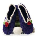 Chauffez les chaussettes tricotées Image stock