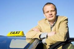 chauffören taxar Royaltyfri Fotografi