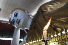 Chauk htat gyi reclining buddha Stock Photo