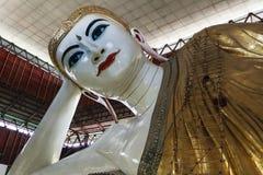 Chauk htat gyi reclining buddha Royalty Free Stock Photo