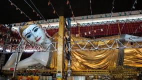 Chauk htat gyi reclining buddha Royalty Free Stock Images