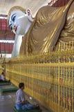 Chauk Htat Gyi Reclining Buddha - Yangon - Myanmar Royalty Free Stock Photo