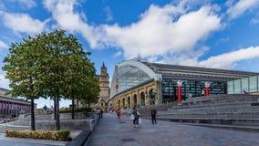 Chaulez la station de train de rue à Liverpool, R-U Image libre de droits