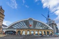 Chaulez la station de train de rue à Liverpool, R-U Photographie stock