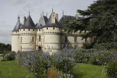 Chaumont Castel sideview and the castel park Stock Image