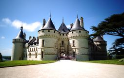 Chaumont castle in Loire Valley, France. Chaumont castle panorama in Loire Valley, France stock photo