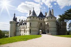Chaumont Chateau against sunlight Stock Image