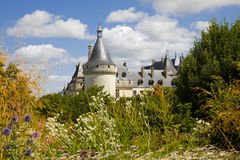 Chaumont Chateau postcard Stock Photo
