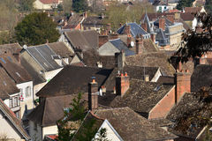 Chaumont en Vexin, Francja - marsz 14 2016: miasto obraz royalty free