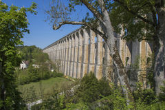 chaumont france viaduct Arkivfoto