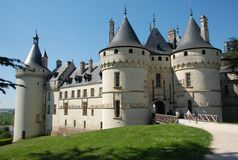 Chaumont on Loire castle. Chaumont castle in France is one of the oldest chateaux of Loire stock photo