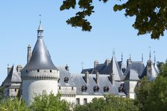 Chaumont Sur Loire. Castle of Chaumont Sur Loire, Loire Valley, France. Originally built in the 10th century, has undergone multiple renovations until reaching royalty free stock photo